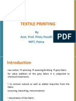 7.  Textile printing ( STYLE AND METHODS)