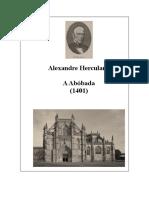 A ABÓBADA, de Alexandre Herculano