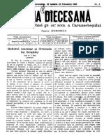 Foaia Diecesană Ianuarie 1895
