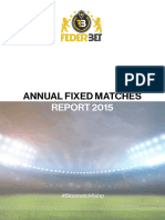 federbet annual fixed matches report 2015
