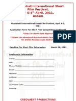 Guwahati International Short Film Festival- Application Form