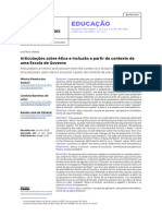 Articulações sobre ética e inclusão