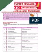 Tildación Diacrítica en Los Monosílabos