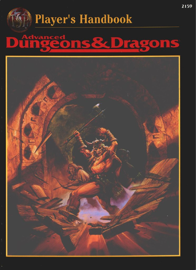 ad u0026d 2nd edition - core rulebook