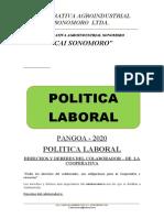 ESTATUTOS, REGLAS INTERNAS y POLITICA DE TRABAJO