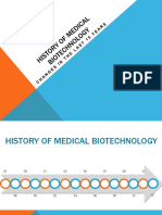 History of Medical Biotechnology