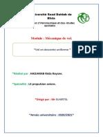 Projet de MDV (HADJARAB Reda  Rayane L3 PROPULSION)