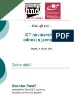 ICT novinarstvo i odnosi s javnoscu - okrugli stol