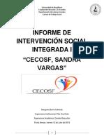 Informe de Intervención Social Integrada I