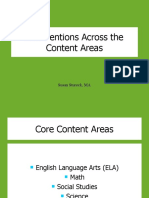 Interventions Across the Content Areas