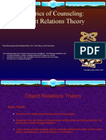 Theories of Counseling Object Relations Theory