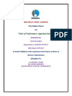 DISSERTATION REPORT ON PERFORMANCE APPRAISAL SYSTEM BY JYOTI CHAUDHARY ROLL NO 35084046