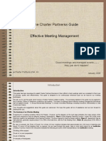 The Charter Partners Guide to Effective Meeting Management