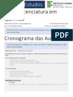GUIA DE ESTUDOS  - Química Orgânica III
