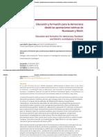 Educación y formación para la democracia desde las aportaciones teóricas de Nussbaum y Morín