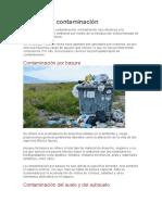 11 tipos de contaminación