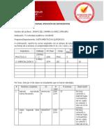FORMATO RELACION DE ESTUDIANTES ( CLASE - PROFESORES)