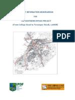 Southern Bypass -  Project Information Memorandum