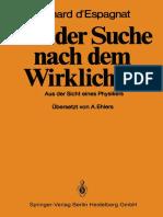 Bernard d'Espagnat (Auth.) - Auf Der Suche Nach Dem Wirklichen_ Aus Der Sicht Eines Physikers (1983, Springer-Verlag Berlin Heidelberg) - Libgen.lc