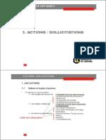Chap 3 - Actions Et Sollicitations