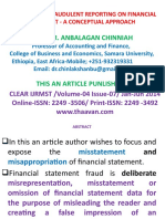 Abstract-Fraudulent Reporting on Financial Statement09.01.2021