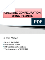 CHECKING CONFIGURATION USING IPCONFIG