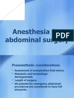8.Anesthesia for abdominal surgery