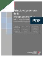 Principes généraux de la chromatographie