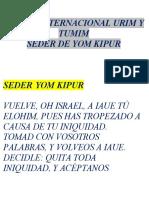 Seder de Yom Kippur Ministerios Urim y Tumim