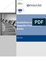 Guidelines on Risk Appetite Practices for Banks