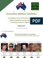 Australian Military Fatalities in Afghanistan