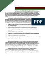 M2 - Lesson 4 - Good quality Control Laboratory Practice