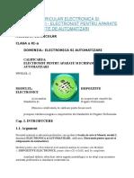 Auxiliar Curricular Electronica Si Automatizari