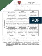 Rúbrica de Evaluacion. 1 Secundaria - 1