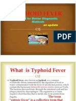 Typhoid Fever  Diagnostic Methods,