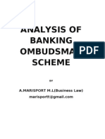analysis of the banking ombudsman scheme