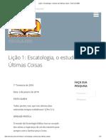 Lição 1_ Escatologia, o estudo das Últimas Coisas – ESCOLA-EBD