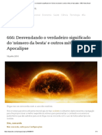 666_ Desvendando o verdadeiro significado do 'número da besta' e outros mitos do Apocalipse - BBC News Brasil
