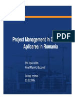 Project Management in Constructii