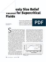 Rigorously size relief valves for supercritical fluids