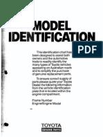Toyota Model Identification