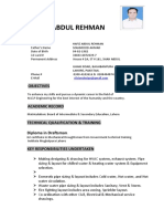 CV - MEP CAD DESIGNER - ABDUL REHMAN