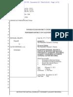 United States District Court, Northern District of California, Case No. CV 17-7357 JCS, Michael Zeleny v. Gavin Newsom, et al. — MSJ against Becerra