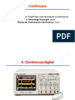 Curs 8 OSCILOSCOPE KEYSIGHT 8 DECEMBRIE