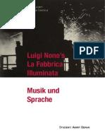 Musik Und Sprache - La Fabbrica Illuminata von Luigi Nono - Amrit Beran