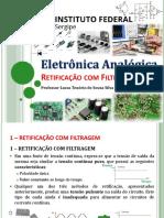 7 - Eletrônica Geral - IfS - DIODO - Retificação Com Filtro Capacitivo 2019-2