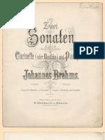 Sonate de Brahms