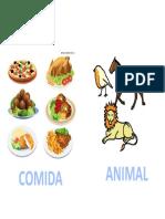 COMIDA O ANIMAL