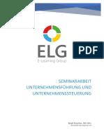 Seminararbeit - Unternehmensführung und Unternehmenssteuerung