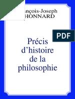 Père Thonnard - Précis d'Histoire de La Philosophie